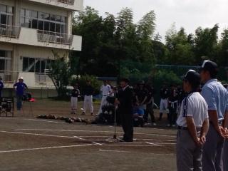 平成26年度学童新人野球大会開会式に参加。