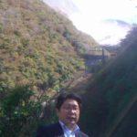 箱根山の一部である大涌谷周辺を視察。