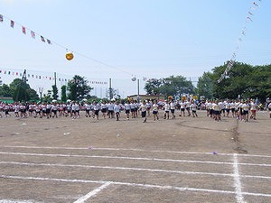 竹園小学校運動会に参加。