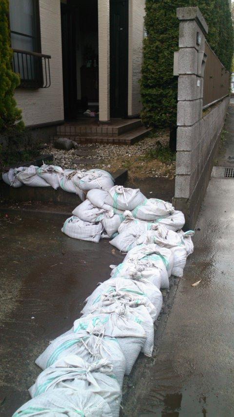 4.6~4.7にかけて伊勢原地区に大雨洪水警報が発令いたしました。